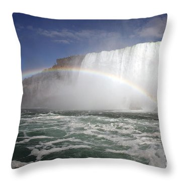 End Of The Rainbow Throw Pillow by Amanda Barcon