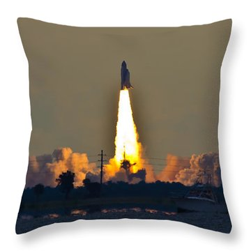 Endeavor Blast Off Throw Pillow