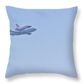 Endeavour Flyover Throw Pillow by Heidi Smith