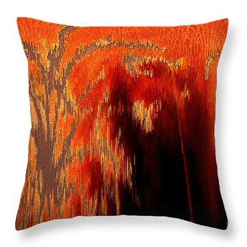Endless Pit Throw Pillow by Donna Brown