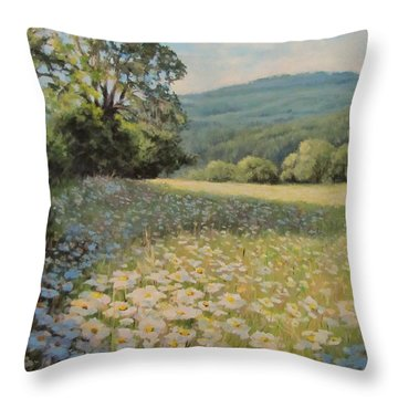 Endless Summer Throw Pillow by Karen Ilari