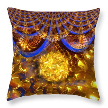 Energy Field Throw Pillow by Michael Durst