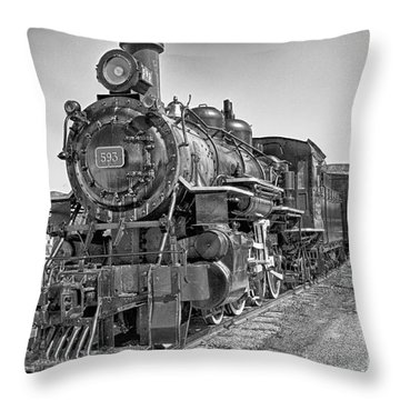 Engine 593 Throw Pillow by Eunice Gibb