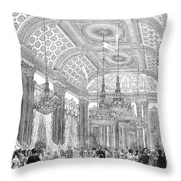 England - Royal Ball 1848 Throw Pillow by Granger