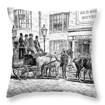 England: Coaching, 1876 Throw Pillow by Granger
