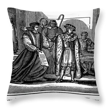 England: Martyr, 1550 Throw Pillow by Granger