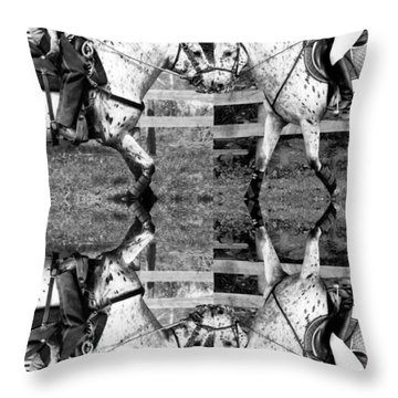 English And Western Collide Throw Pillow