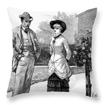 English Couple, 1883 Throw Pillow