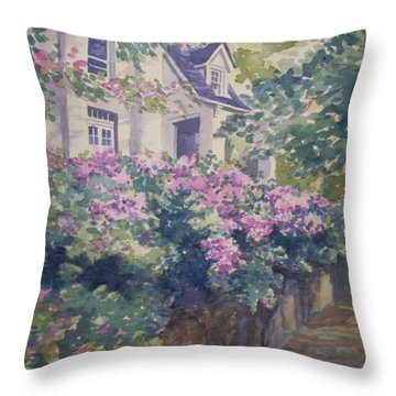 English Summer Throw Pillow