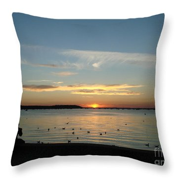 Throw Pillow featuring the photograph Enjoy by Katy Mei