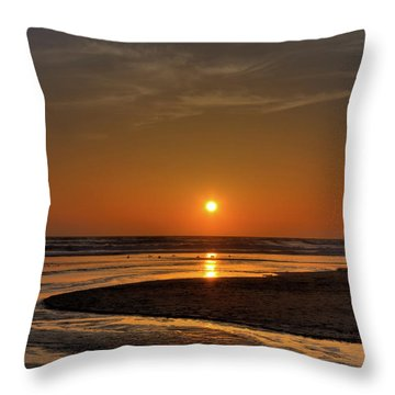 Enjoying The Sunset Throw Pillow