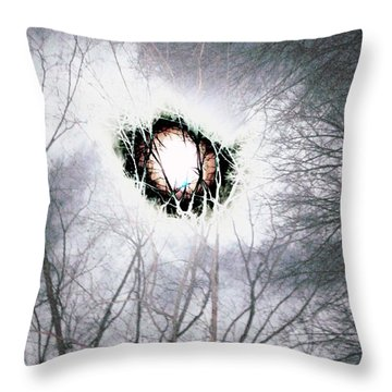 Eye Of The Storm Throw Pillow by Jesse Ciazza