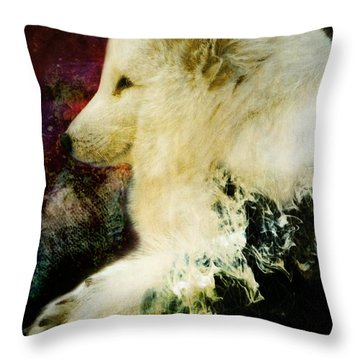 Enlightenment Throw Pillow by Leah Moore