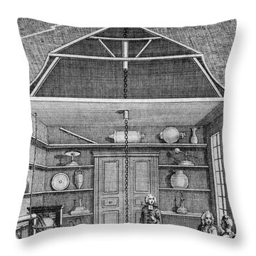 Enlightenment Lightning, 1766 Throw Pillow by Science Source