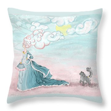Enter Lady Spring Throw Pillow