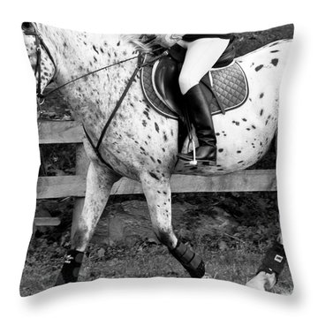 Enter Working Trot Throw Pillow