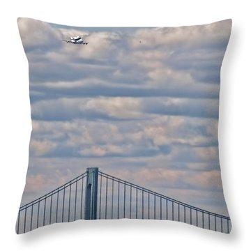 Enterprise 1 Throw Pillow by S Paul Sahm