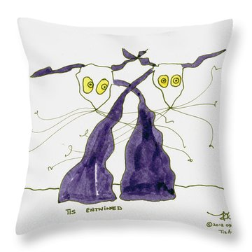 Entwined Throw Pillow by Tis Art