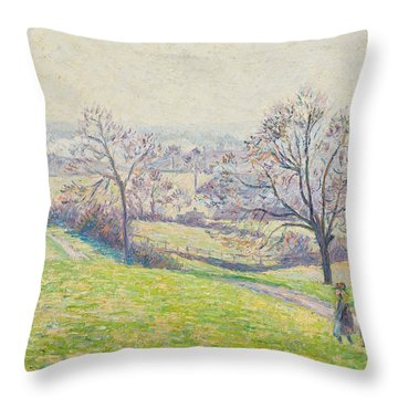 Epping Landscape Throw Pillow by Camille Pissarro