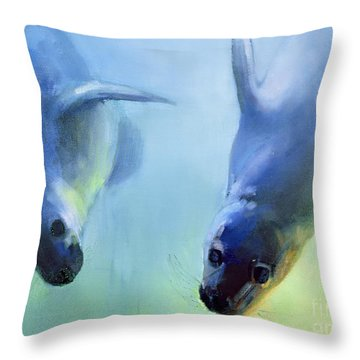 Equally Fascinating Throw Pillow by Mark Adlington