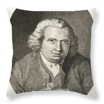 Erasmus Darwin, English Polymath Throw Pillow by Science Source