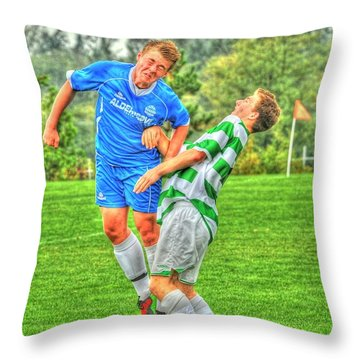 Eric Throw Pillow by Rod Wiens
