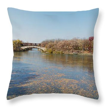 Throw Pillow featuring the photograph Erie Canal Panorama by William Norton
