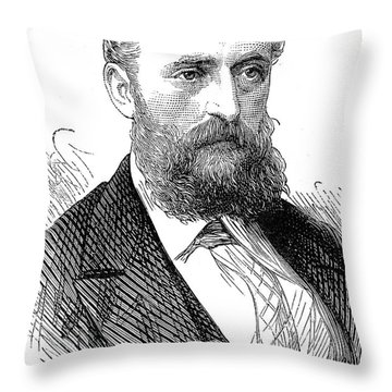 Ernest Giles (1835-1897) Throw Pillow by Granger