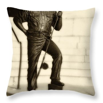 Ernest Hemingway The Old Man And The Sea Throw Pillow by Bill Cannon