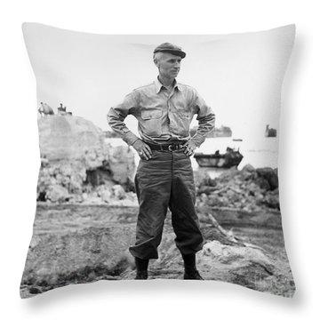 Ernie Pyle (1900-1945). American Journalist. Photograph, C1942 Throw Pillow by Granger