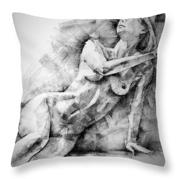 Erotic Sketchbook Page 2 Throw Pillow