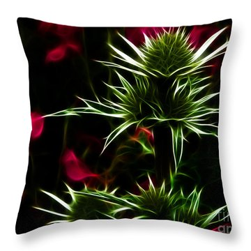 Eryngium Maritimum Throw Pillow