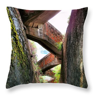 Escaleras Throw Pillow by Skip Hunt