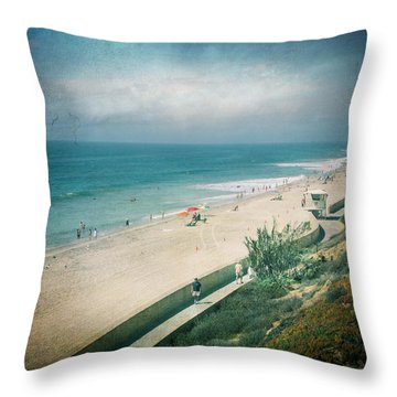 Escape For A Day Throw Pillow by Laurie Search