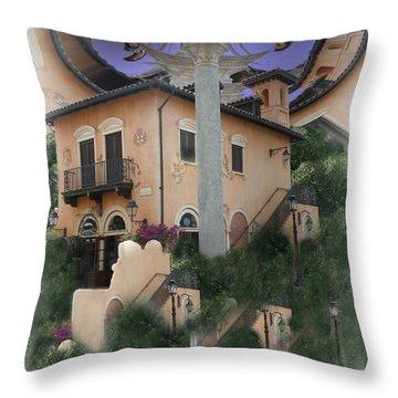 Escher's Dream Throw Pillow by Nina Fosdick