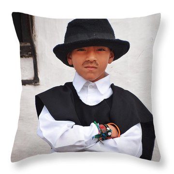 Espiritu De Colombia Throw Pillow by Skip Hunt