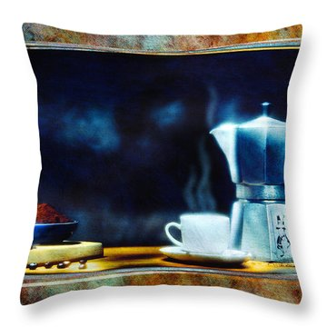 Espresso  Throw Pillow by Mauro Celotti