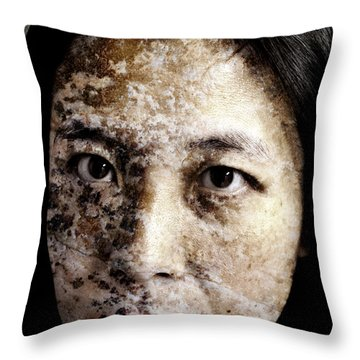 Etched In Stone Throw Pillow by Christopher Gaston