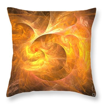 Eternal Flame - Abstract Art Throw Pillow