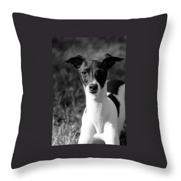 Ethan In Black And White Throw Pillow