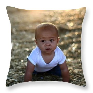 Throw Pillow featuring the photograph Ethan Sunset by Mark Robbins