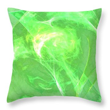 Throw Pillow featuring the digital art Ethereal by Kim Sy Ok