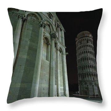 Ethereal Moonlight Scene Of Duomo Santa Throw Pillow by Carson Ganci