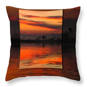 Ethereal Sunrise In Sunrise Throw Pillow by Judee Stalmack