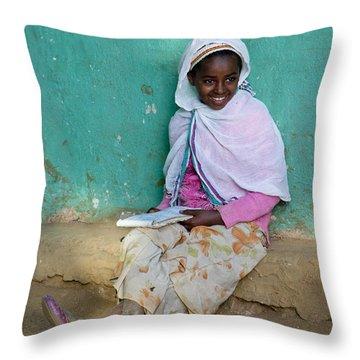 Ethiopia-south School Girl Throw Pillow