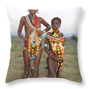 Ethiopia-south Sisters Throw Pillow