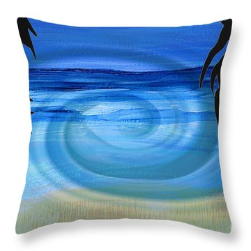 Eucalyptus Ocean View Throw Pillow