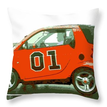 European General Lee Throw Pillow by George Pedro