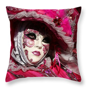 Eve In Pink Throw Pillow