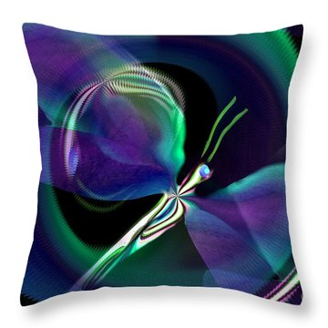 Eve Of The Dragonfly Throw Pillow by Maria Urso